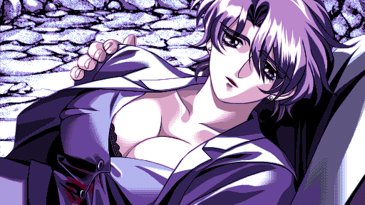 Takuya holds a mortally wounded Mitsuki under Triagle Mountain. (They used the exact same sprite.)